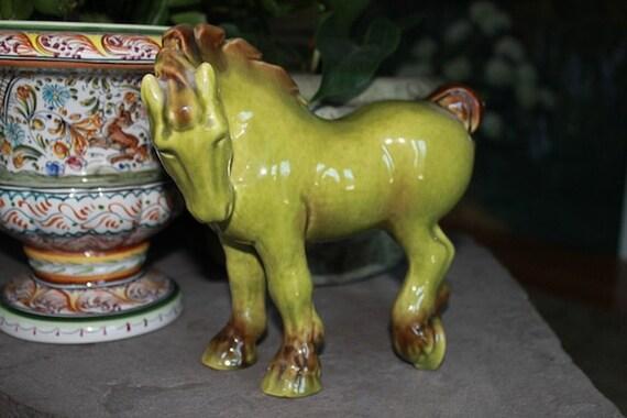 Equestrian Vintage Art Deco Ceramic Draft Horse