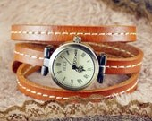 On Sale, 20%OFF,Leather Watch & bracelet ,vintage,classical,3xwrap WN04-5