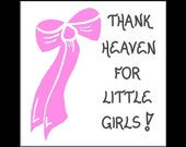 Little Girl Magnet , Babies, female infant, Mother of New Baby, Pink Bow design
