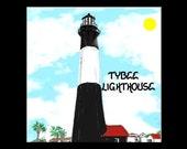 Tybee Lighthouse Magnet - Georgia