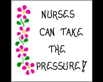 Magnet Nurses - Quote, Nursing humor, pink flowers, green leaves design