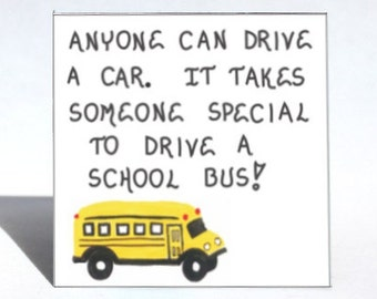 School Bus Driver Magnet - Schoolbus operator thank you gift, yellow vehicle