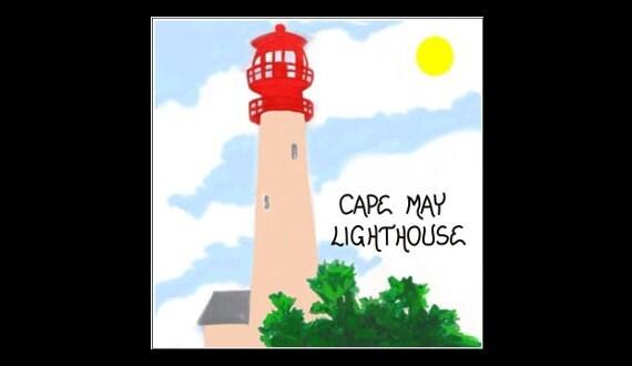 Lighthouse Magnet - Cape May Light, New Jersey, original artist design