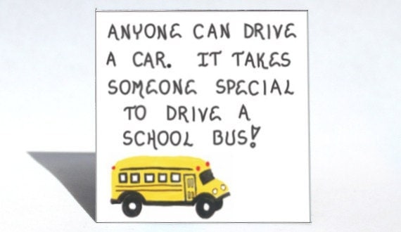 School Bus Driver Magnet Schoolbus by TheMagnificentMagnet