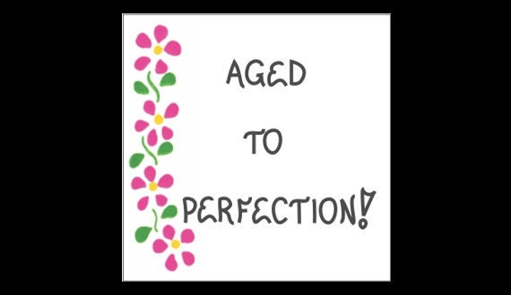 Refrigerator Magnet About Aging-Humorous Quote Growing