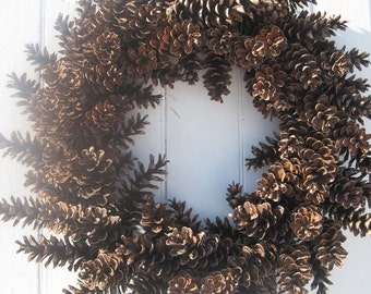 Pinecone Wreath - Fresh Large Maine Pinecones - Great for Year Round