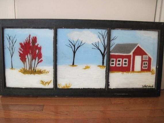 Paintings Scenes Through Windows Window Painted With Earley