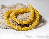 Necklace of yellow Baltic Amber
