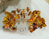 Baltic amber bracelet on hemp - captured sunrays