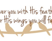 He will cover you with His feathers, under His wings you will find refuge. Psalm 91:4'