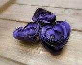 Purple Iris, Wedding Flower Hair Bobby Pins- Purple Flower Hair Pins- Bridal Accessories