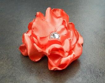 Orange Spice, Wedding Flower Hair Clip- Orange Flower Hair Pins- Bridal Accessories