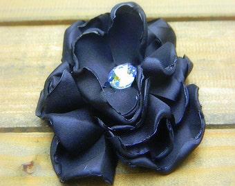 Envy,Wedding Flower Hair Clip- Black Flower Hair Pin- Bridal Accessories