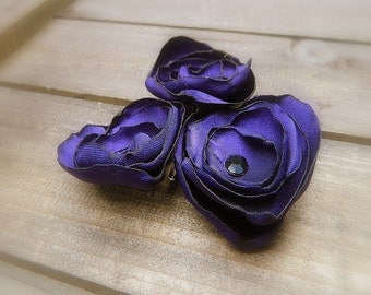 Purple Iris, Wedding Flower Hair Bobby Pins- Purple Flower Hair Pins- Bridal Accessories