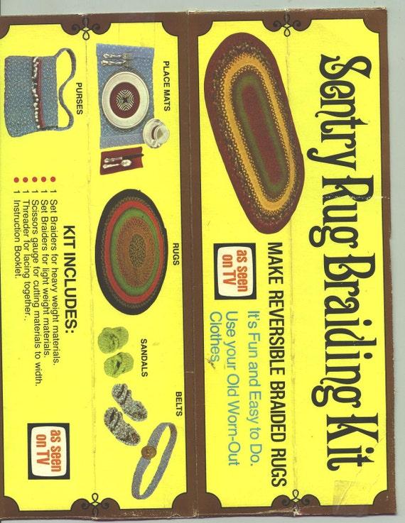Vintage Century Rug Braiding Kit in original box with instructions