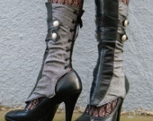 Herringbone and Leather Spats with Gathers