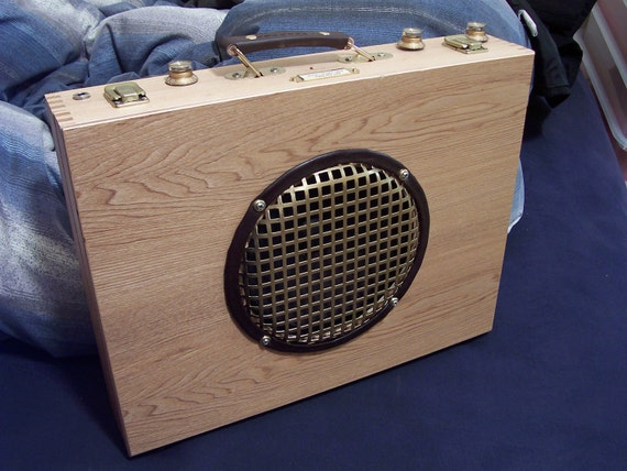 "Portable Guitar Amp With New 8"" Fender Speaker and 12V Rechargeable Battery Pack"
