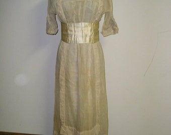 1910 Wedding Dress with boots