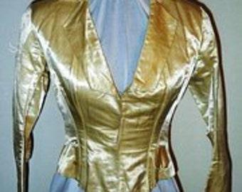 1885-90 Cream Silk Satin bodice