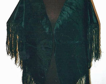 1850-60s Black Silk Cape