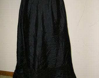 Black Edwardian Skirt
