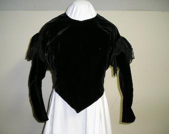 1850-60s velvet bodice