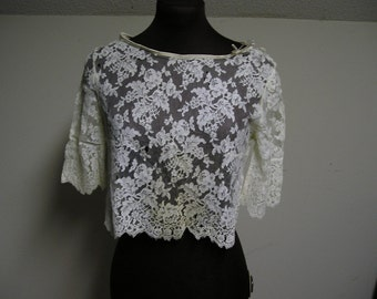 Alencon Lace top