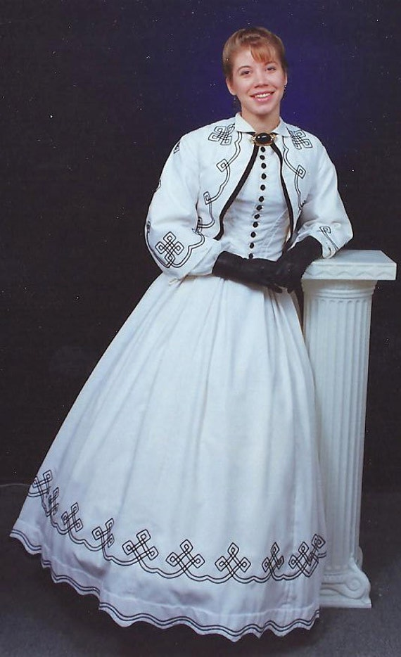 1860s Seaside Dress - Historical Reproduction