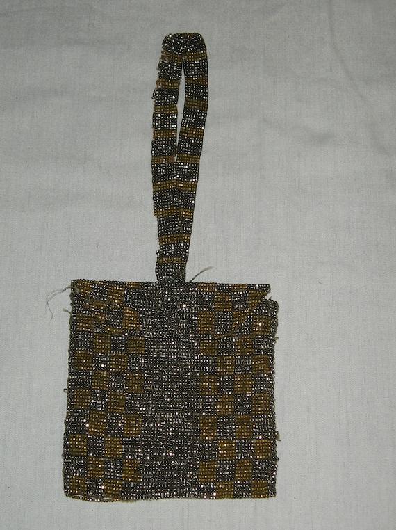 metal beaded purse