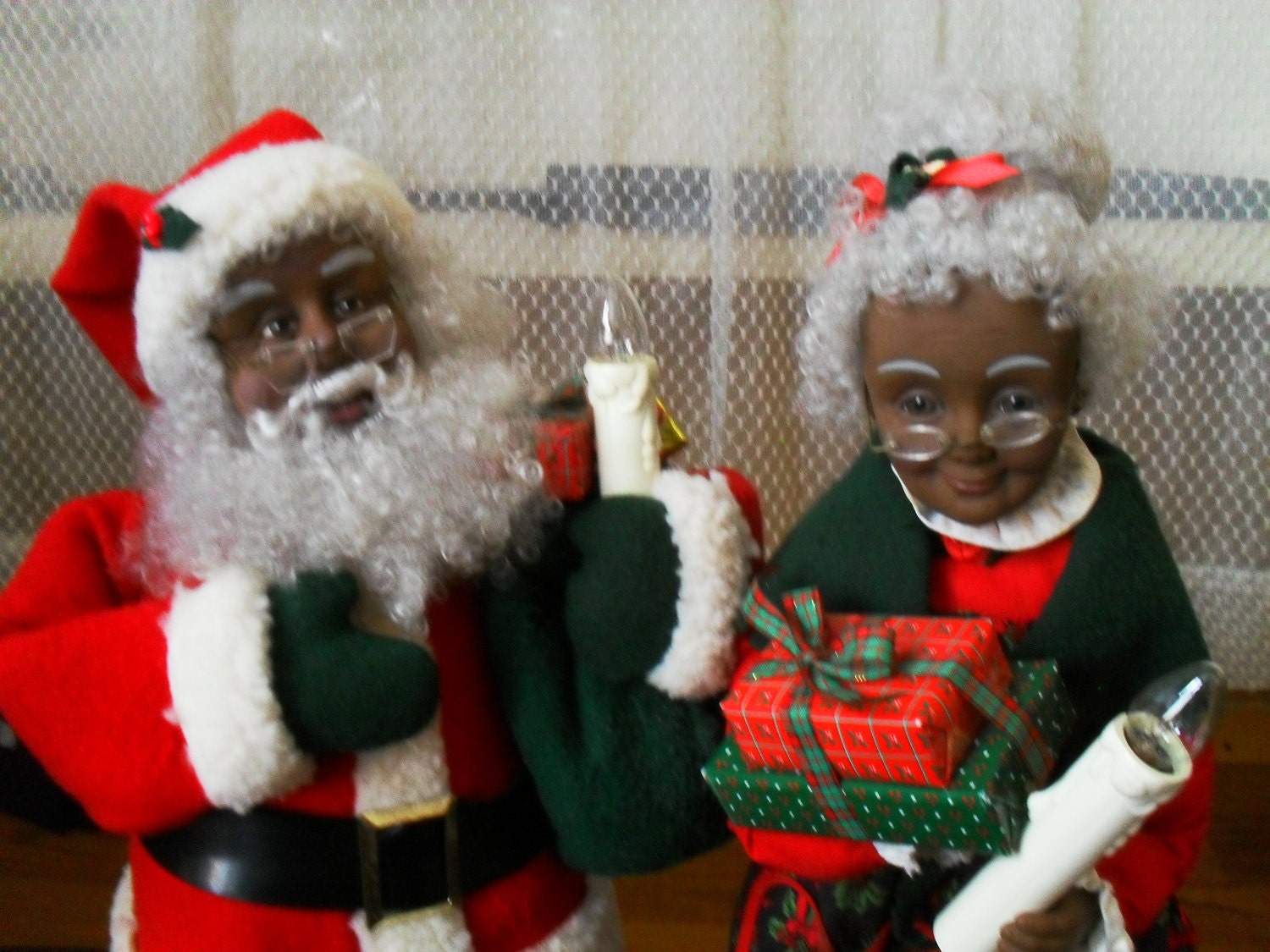 African american santa claus and mrs doll by shirepipes