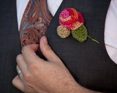 Unique Wedding Boutonnières Corsages for Groom, Groomsmen, Bridesmaids, Parents.