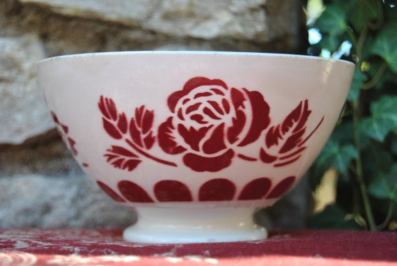 Antique French Cafe Au Lait Bowl / French Faience