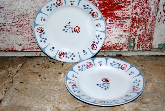 1930s 1940s Antique French Faience/ Earthenware