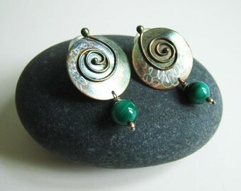 Vintage Handcrafted Earrings with Swirls