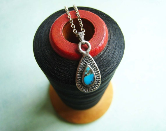 Vintage Silver and Turquoise Necklace