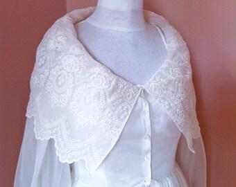 1950s Schiaparelli Bridal Peignoir