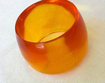 Amber Lucite Cuff Bracelet