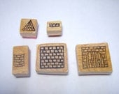 Castle Stamp Kit with Wooden Backs