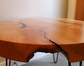 Modern Wood table with hairpin legs - eco-friendly Salvaged Maple slab