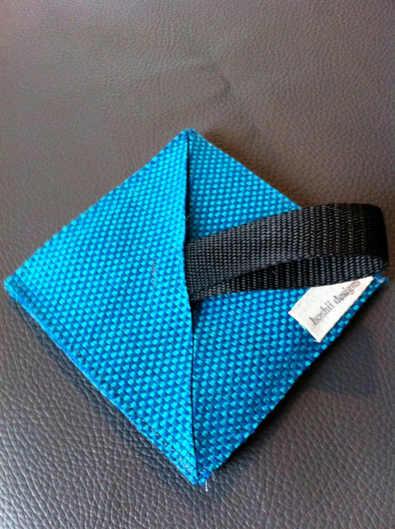 Blue Lantern Bag, collapseable, expandable, ORIGAMI Inspired