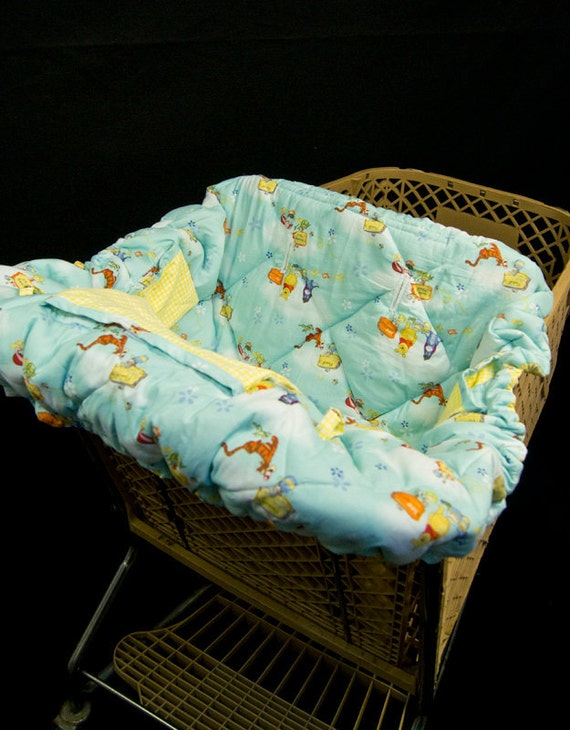 Shopping Cart Cover - Winnie the Pooh - with pillows and attached carrying bag