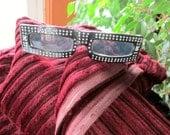 Dr. Peepers Rhinestone Sunglasses 1980s