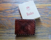 Vintage Buxton Leather Wallet Hand Tooled