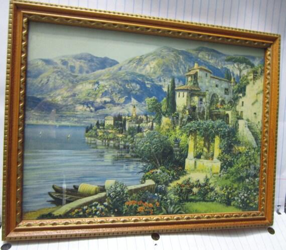 1940's Lake Como, Italy Original Print/Frame