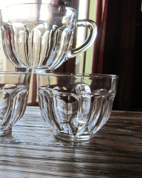 Clear Glass tea / Coffee/ Punch Cups set of 10