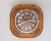 """Vintage ceramic wall clock made in Germany by  """"United Clock Works"""""""
