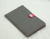 The Wilbur eBook Cover - For Kindle or Nook with Grey and White Polka Dot Print & Pink Accents