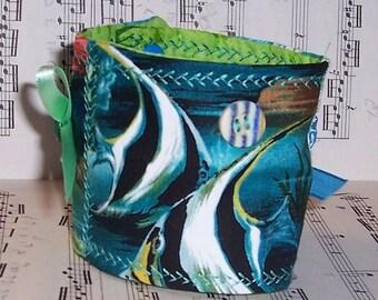 A Mermaid's  Friend Fabric Bracelet Cuff
