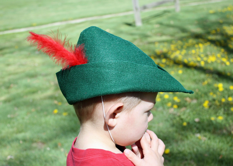 Knitting Pattern For Robin Hood Hat : Peter Pan Hat Cap Kelly Green Felt Prince Charming Robin Hood
