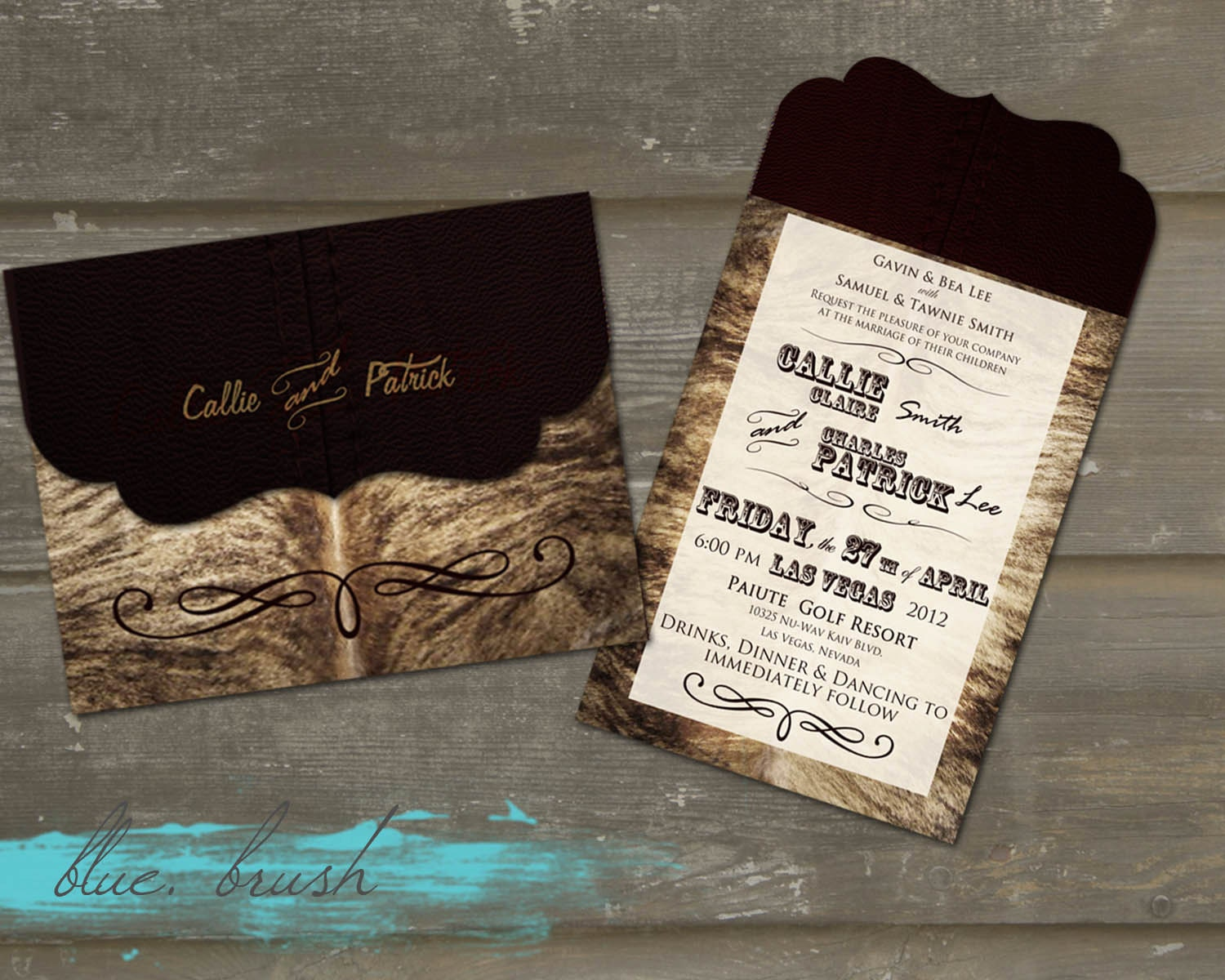 Western Themed Wedding Invitations_Wedding Dresses_dressesss